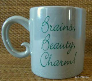 Green Disney Snow White Coffee Mug Cup Brains Beauty Charm Princess Cartoon