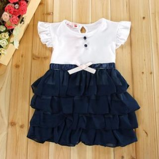 Girls Baby Toddlers Kids Multilayer Dress Party Clothing 1 6Y Princess Skirt