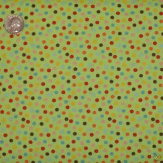 Moda Erin Michael Quilt Fabric 5 Funky Sock Monkeys Polka Dots Lime Green Cotton