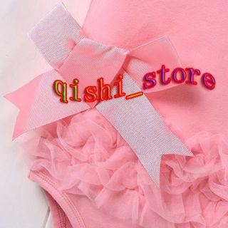 Sleeveless Kid Baby Girl Princess Dress Short Top Suit Costume Cloth 0 18M