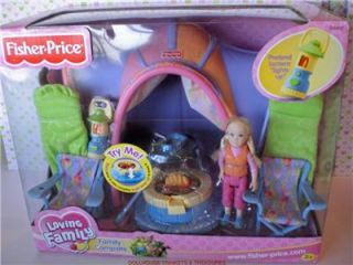 Fisher Price Loving Family Dollhouse Camping Set New