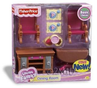 Fisher Price Loving Family Dollhouse Dining Room New