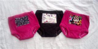 New Girls Toddler Rockabilly Punk Potty Training Pants Black Pink Sugar Skulls