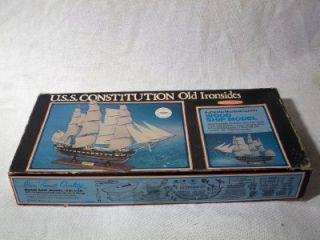 Vintage 1976 Scientific USS Constitution Old Ironsides Wooden SHIP Model Kit 300