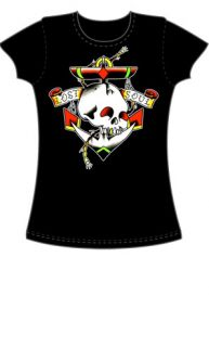 Lost Soul Skull Tattoo Flash T Shirt Rockabilly s XL