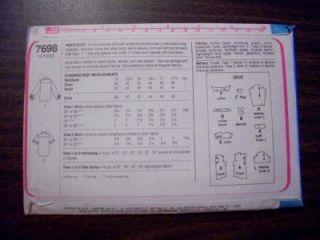 Vintage Simplicity Sewing Pattern 7698 Mens Shirt Sz 44