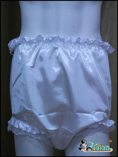 Adult Baby Sissy Satin Frilly Diaper Cover FSP08 4