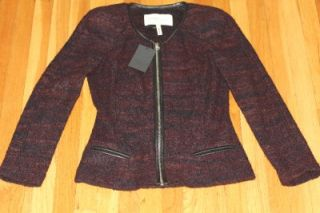 NWT Etoile Isabel Marant Lexy Leather Trimmed Boucle Jacket 1 $535 Sold Out