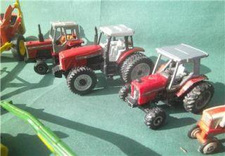 Lot 13 Ertl Massey Melroe John Deere Farm Tractors Equipment Hay 1 64 Scale Toys