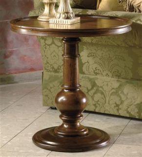 Tuscan Estates Round Pedestal End Table ID 86055