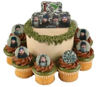 Duck Dynasty Party 24 Cupcake Favor Rings Pop Up Cake Decoration