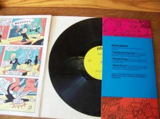Warner Bros Vintage 1975 Bugs Bunny Record Full Color Book Story Children Music