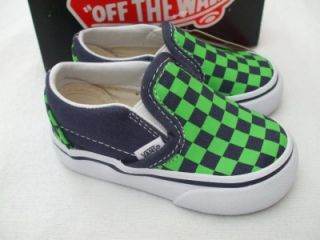 NEW BLUE GREEN WHITE VANS TENNIS SHOE SIZE 4 INFANT VANS SHOES INFANT VANS SHOE