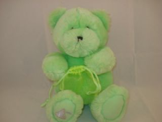 Lime Green Hershey's Bear Plush Teddy Toy Stuffed 8P34 Animal Bag for Kisses