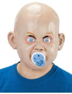 Adult Scary Baby Rubber Face Mask Dummy Fancy Dress Costume Party