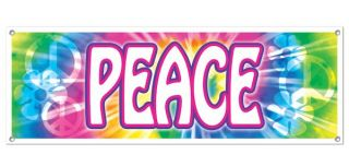 Hippy Peace Sign All Weather Giant Sign Party Banner Decoration 5 Feet