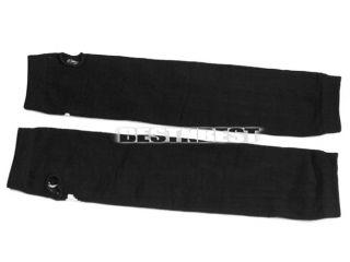 Men Women Arm Warmer Knit Skeleton Bones Print Goth Punk Fingerless Long Gloves