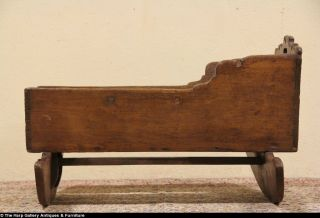 Country Pine Baby Rocking Cradle Late 1700'S