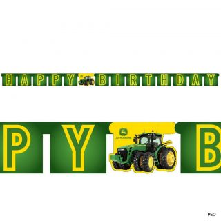 John Deere 7 inch Paper Plates Tractor Party Supplies Birthday Green ...