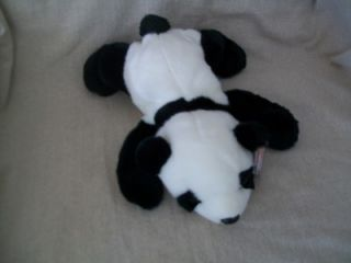 Ty Beanie Buddy Peking Panda Bear Plush Floppy Laying Down Bear 1998