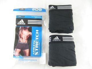 2 Pack Mens Adidas ClimaLite Athletic Stretch Trunk Boxer Underwear s M L XL