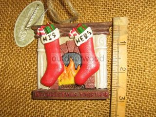 Cannon Falls 1st First Christmas Together His Hers Stockings Fireplace Ornament