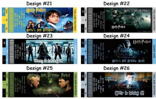 Harry Potter Wizard Movie Birthday Party Ticket Invitations Supplies Favors