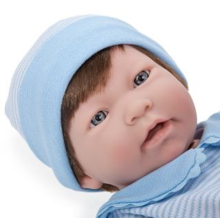 "Berenguer La Newborn 17"" All Vinyl Real Boy Doll Made in Spain 18104"
