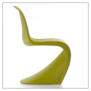 Panton Chair in White Classic Red Basic Dark Tangerine Ice Grey Chartreuse