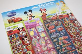 New 3D Disney Characters Stickers Choose Character Reward Charts Card Making
