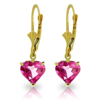 7 24 Carat Pretty Pink Topaz Necklace Earring Ring Yellow Gold Jewelry Set