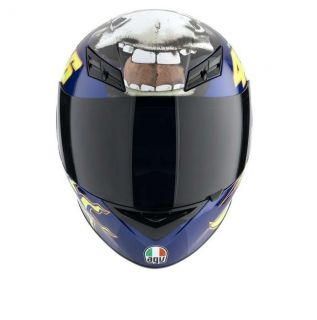 Agv K3 Donkey Full Face Race Touring City Motorcycle Helmet Blue Yellow