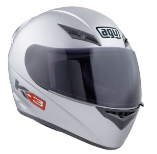 Agv K3 Full Face Race Touring City Motorcycle Helmet Gloss Mono Silver