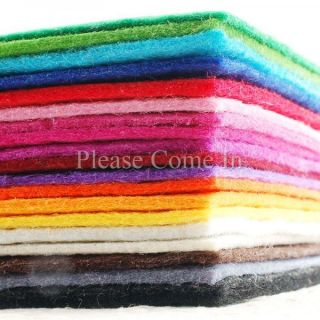 8 x Felt Pieces Choose Your Own Colour 300mm x 200mm 2mm Thick Sheet