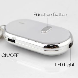 Key Chain Finder Sound Activated with LED Light Just Whistle to Find Lost Keys