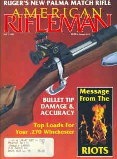 1992 American Rifleman Magazine Ruger Sturm Rifle