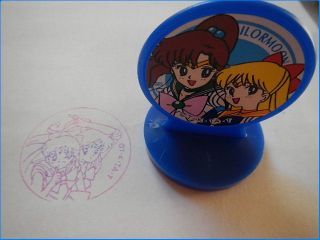 Sailor Moon Venus and Jupiter Stamp Yutaka Japan