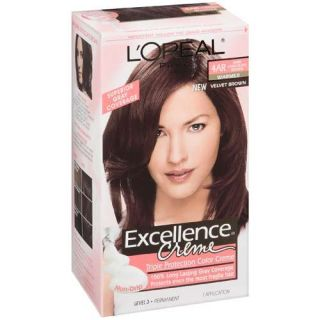 Loreal Creme Hair Color 4AR Dark Chocolate Brown Kit