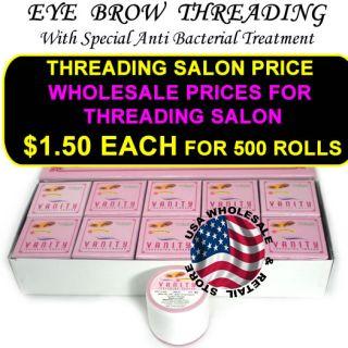 1 Vanity 1 Griffin Eyebrow Hair Threading Thread Roll