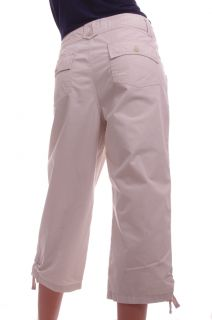IZOD Womens Khaki Cream Chino Crop Cropped Capri Pants Size 12 Ladies New
