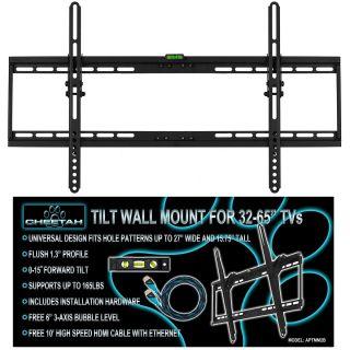 "LCD LED Flat Screen Panel Tilt Cheetah TV Wall Mount Bracket 32 42 47 50 55 60 """