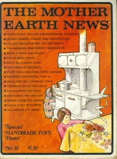 1974 The Mother Earth News Magazine Christmas Cookies