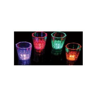Set of 24 Light Up Shot Glasses LED Flashing Liquid Activated Barware Party Fun