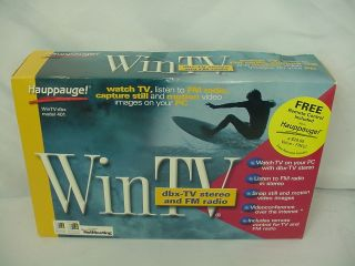 New Haupauge WinTV 401 TV and FM Radio Tuner Card New with Remote CD Cables