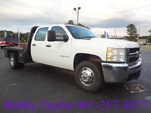 08 Chevy 3500 Crew Cab Duramax Diesel Allison Flatbed Work Truck Make OFFER