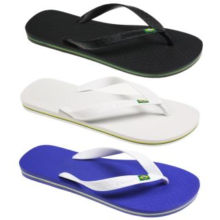 Mens Boys Ipanema Brazil Flag Flip Flop Summer Beach Holiday Slippers Shoes Size