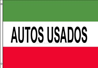 Autos Usados Spanish Used Cars Auto Car Dealer Red 3x5 Business Banner Sign Flag