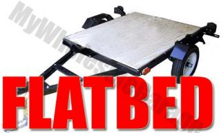 Single Bike Rail Flatbed Carrier 4' x 5' Motorcycle Trailer Kit