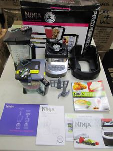 Display Demo Ninja Kitchen System 1100 Food Processor Blender Juicer 2 Pitchers
