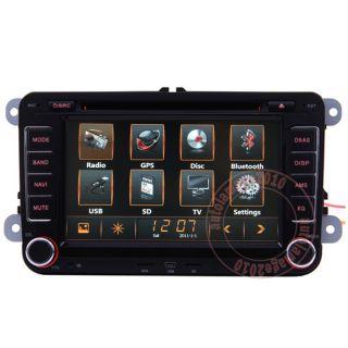 Car GPS Navigation Radio HD Touch Screen TV DVD Player for 08 11 VW Golf MK6 VI